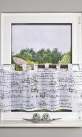 Vitrážková záclona 52510 WRITINGS
